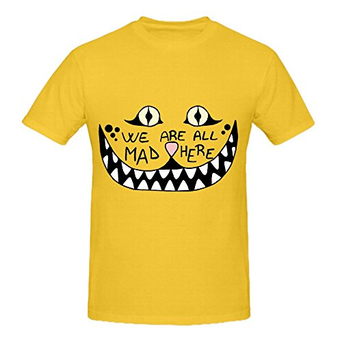 we-are-all-mad-here-mens-crew-neck-slim-fit-tee-shirts-yellow