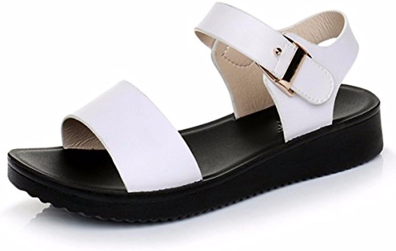 GTVERNH Mujer Zapatos/Verano Sandalias De Mujeres Joker Confort Zapatos De Playa Mujeres Embarazadas Fondo Grueso...