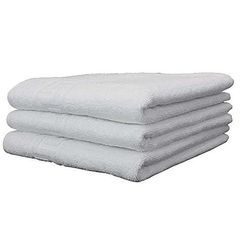 3er Set Handtücher in Premium Hotel-Qualiät. Weiß. Waschbar bei 95 Grad. Gewicht 500 Gr. / qm. Flauschiges Frottee aus 100% Baumwolle. Saugstark und Edel. Größe Handtücher 50x100 cm