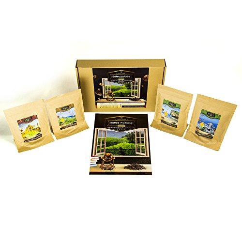 Kaffee Geschenk Box für Kaffee Trinker (4x7 Tassen) | Weltreise Kaffee Präsentkorb für Frauen Männer Freund Freundin Ihn Sie | Geschenkset Geburtstag