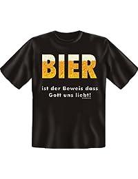 Bière est la preuve que Dieu–T-Shirt–Textiles