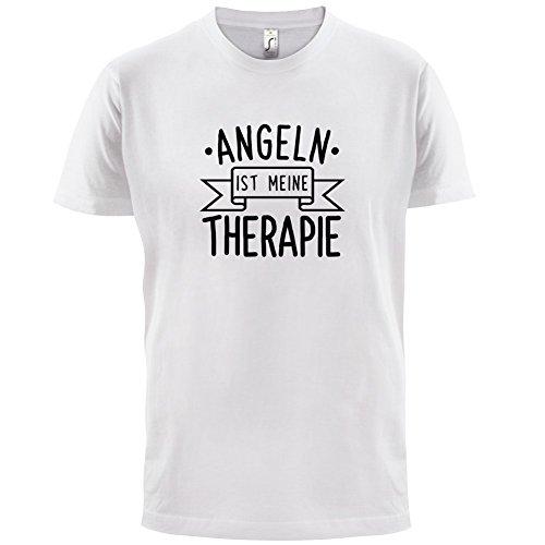 Angeln ist meine Therapie - Herren T-Shirt - 13 Farben Weiß