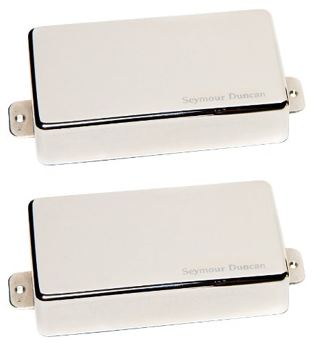 Seymour Duncan SAHB-1S NCOV Schwarzouts Active Humbucker Set Cover nickel (Cover Nickel Seymour Duncan)