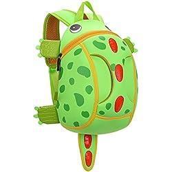 Yeelan impermeable bolso de escuela / Mochila para niños pequeños / Niños (dinosaurio verde)