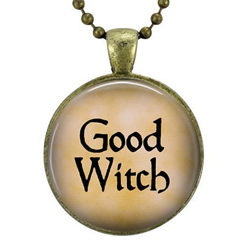 Gute Hexe Anhänger Halskette-Hexe Jewelry-Enchantress-Bad Witch-Glinda die gute Hexe