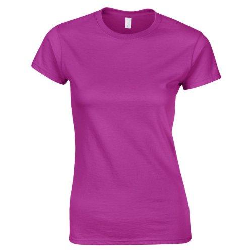 Gildan 64000L Softstyle DaHerren Ringspun T-Shirt Antique Heliconia 2XL (T-shirt 64000l)