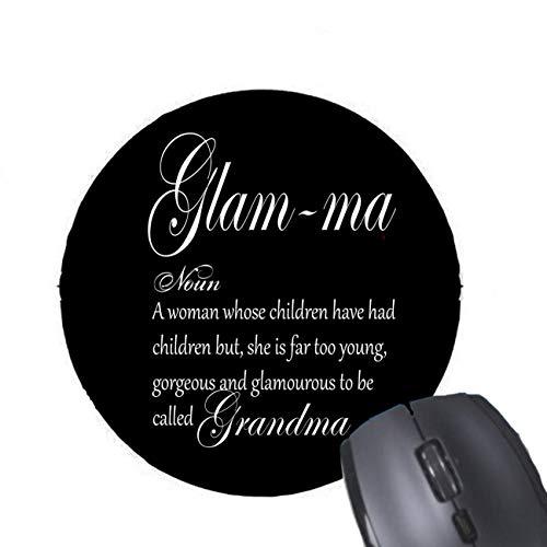 glam-ma Hand beschriftet Design für Desktop und Laptop 1 Pack Herzförmige Mauspad ()