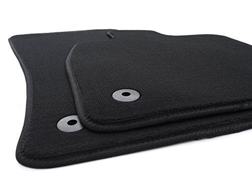 kh Teile Fußmatten / Velours Automatten Premium Qualität Stoffmatten 2-teilig schwarz