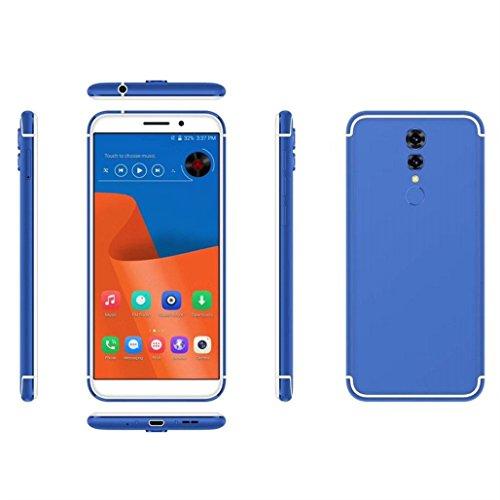 Wawer Doppel-SIM u. 2G / 3G / 4G Netz 1 + 16G entriegelt 4G Smartphone HD androiden Handy für gerades Gespräch ATT TMobile Maße 155.5 * 74 * 8.7mm (Blau) Att Entsperren Handys