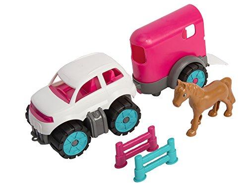 BIG Spielwarenfabrik 800055793 - BIG-Power Worker Mini Ponytransporter-Set Kinderspielzeug für Kinder ab 2 Jahren