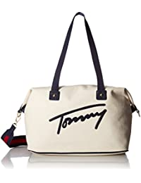 Tommy Hilfiger Women'S Tommy Canvas Weekender, Natural