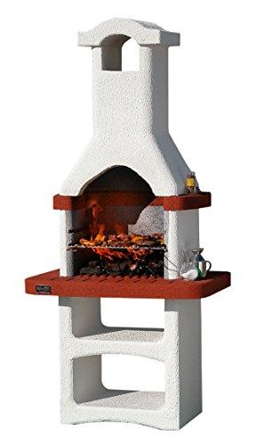 1pz barbecue in muratura mod.alicante in cemento, con cappa cm 86x56x186h