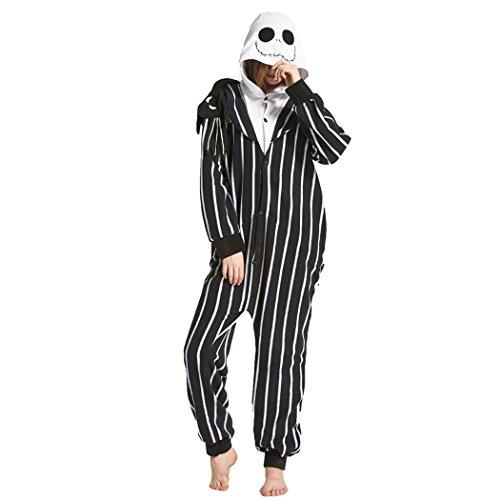 HXQ Fleece Onesie Pyjama Erwachsene Unisex Schlafanzug Jumpsuit , XL: (height 178-188cm) (Erwachsene Lustige Herren Kostüme)