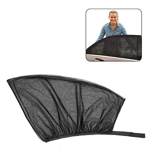 Pawaca Universal-Auto-Sonnenschutz, Abdeckung für hintere Seitenscheiben, Auto-Sonnenschutz mit UV-Schutz für Kinder und Haustiere, lässt Fenster öffnen und schließen, einfache Montage