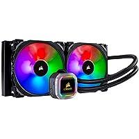 Corsair Hydro 115i RGB Platinum, Radiateur de 280mm (Deux ML PRO RGB de 140 mm PWM ventilateurs, Contrôle logiciel avancé de l'éclairage RGB et des ventilateurs) Refroidissement Liquide - Noir