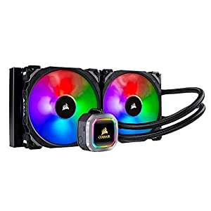 Corsair Hydro 115i RGB Platinum, Hydro Series, 280 mm Radiator (Dual ML PRO 140 mm RGB PWM Fans, Advanced RGB Lighting and Fan Control with Software) Liquid CPU Cooler, Black
