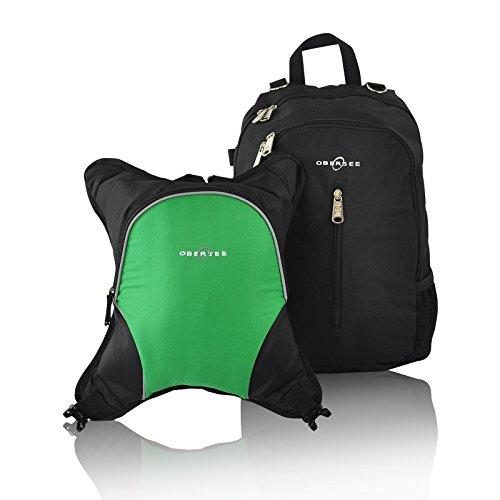 obersee-zaino-fasciatoio-rio-con-borsa-termica-removibile-nero-verde