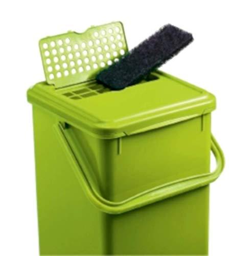 Zoom IMG-3 rotho 483325 compostiera plastica nero