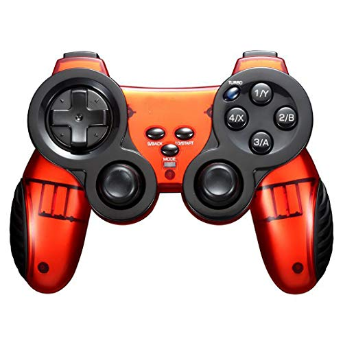 Mvlike Bluetooth Wireless Game Controller Dual Vibration Motor Unterstützt Android Smart Device, PC Computer, PS3 Host (Farbe : Orange)