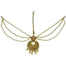 Matra Fiesta de la boda tradicional india dorado Matha Patti diseñador de la joyería étnica