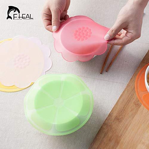 Uniqus FHEAL Multifunctional Food Fresh Keeping Saran Wrap Reusable Silicone Food Wraps...