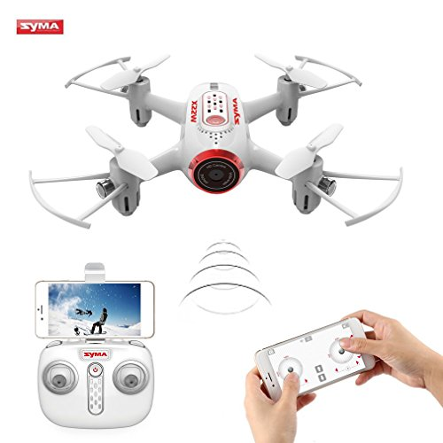 Syma X22W Drone Mini with Camera WIFI FPV 2.4GHz 4CH 6-Axis Quadcopter with Altitude Retention, Flight Plan, APP Control, Headless Mode, 360 ° Rotation and LED Light