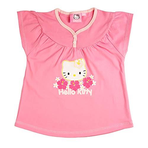 Hello Kitty Sanrio T-Shirt Top Mädchen | Kurzarm | Pink | Größe 74 (Mädchen Kitty Hello Für Sweatshirt)