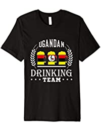 Beer Ugandan Drinking Team Uganda Flag T-Shirt