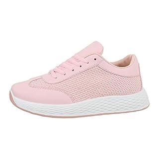 Ital-Design Damenschuhe Freizeitschuhe Sneakers Low Synthetik Hellrosa Gr. 39