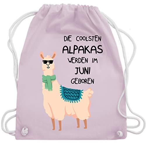 Geburtstag - Die coolsten Alpakas werden im Juni geboren Sonnenbrille - Unisize - Pastell Rosa - WM110 - Turnbeutel & Gym Bag