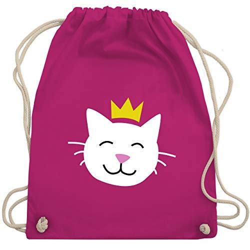 Max König Kostüm - Tiermotive Kind - Katze Prinzessin - Unisize - Fuchsia - WM110 - Turnbeutel & Gym Bag