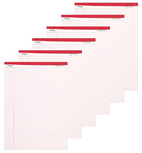 Mead Legal Pad, 8-1/2x 11-3/10,2cm, perforato, bianco, 50fogli, by Mead