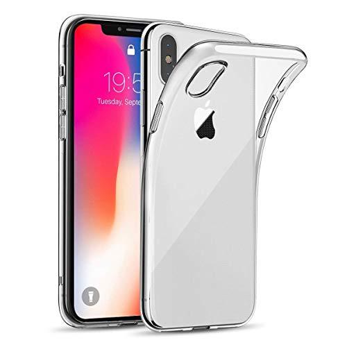 wsiiroon Hülle für iPhone X/iPhone XS, Handyhülle für iPhone X, Ultra Dünn, Kratzfest, Transparent Schutzhülle, Hohe Zähigkeit, Soft TPU Silikonhülle, Case für iPhone X/iPhone 10 (Crystal Clear)