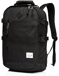 Vaschy Unisex clásico ligero resistente al agua Escuela mochila escuela mochila, mochila de viaje se adapta a 14 pulgadas portátil