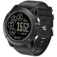 Bluetooth Smartwatch Fitness Uhr Intelligente Armbanduhr Fitness Tracker Smart Watch Sport Uhr mit Kamera Schrittzähler Schlaftracker Romte Capture Kompatibel mit Android Smartphone (BLACK)