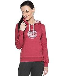 Campus Sutra Womens Printed Maroon Sweatshirt (AW15_H_W_WIT_MA_XL)