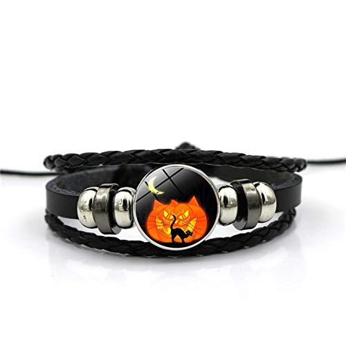 te Halloween Grimasse Zeit Edelstein Armband Mode Armband Armband Herren Damen Alltag ()