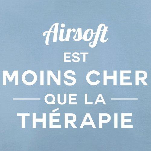 Airsoft est moins cher que la thérapie - Femme T-Shirt - 14 couleur Bleu Ciel