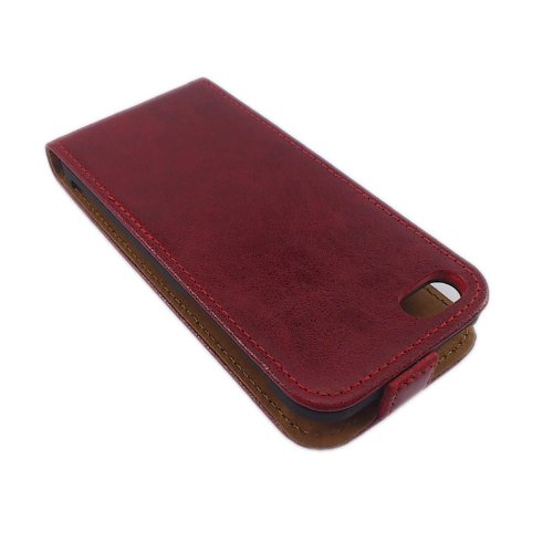 handy-point Toscana Leder Klapptasche für Apple iPhone 4 blau Rot - Hülle für iPhone 4G / 4S