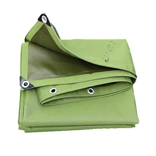 1.5mx2m / 5ftx6ft im Freien Segeltuch-Planen-wasserdichte grüne Hochleistungsplanen-Abdeckung für Anhänger-RV-Boote, mit verstärktem Rand und Ösen, UV-Schutz (Rv Canvas-abdeckungen)