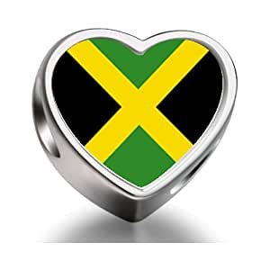flagge jamaikas foto herz f r pandora chamilia biagi charm armb nder charms perlen. Black Bedroom Furniture Sets. Home Design Ideas