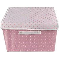 Preisvergleich für Nlj-YMS Faltbare Aufbewahrungsbox Stoff Kleidung Aufbewahrungsbox Rosa