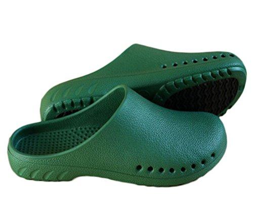 Nanxson Unisex Laboratorio Sala operatoria Scarpe da Lavoro per Infermieri Infermieri Antiscivolo Pantofola/Sandalo X0004 (Uomo 43/44, Verde)