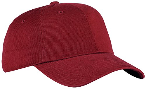 Port Authority® Brushed Twill Cap. BTU Caldera Red OSFA (Twill Authority Port Cap)