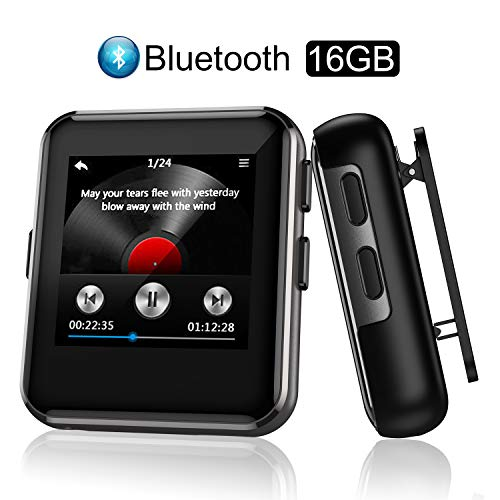 "Arbily Reproductor MP3 Bluetooth Portátil 16 GB con 1.5"" Pantalla Tá"