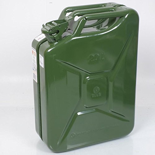Benzinkanister Benzin Metall-Armee Grün Khaki Kapazität 20Liter 5Stück