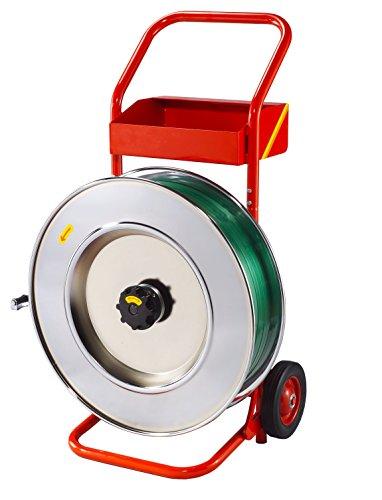 Profi-Abroller / Abrollwagen ✔ für oszilliertes Stahlband (Packenwicklung) und PP-/PET-Band
