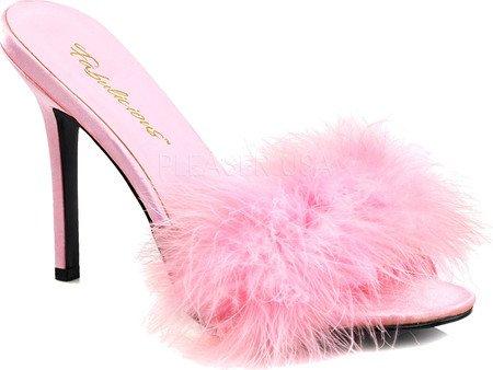 Pleaser Classique-01f, Mules pour Femme Pu Baby Pink
