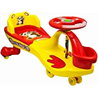 Goyal's Free Wheel Musical Frog Magic Car with Basket and Back Rest, Suitable for Age 2-6 Years (Yellow)