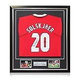 Exclusive Memorabilia Manchester United Trikot von Ole Gunnar Solskjaer signiert. Gerahmt